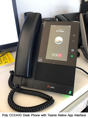 Poly CCX400 Desk phone with Native Teams Interface